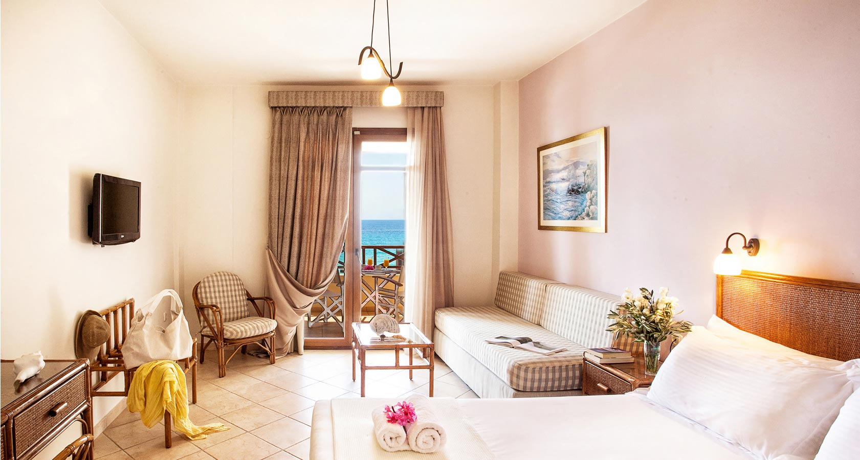 Interior of our hotel rooms in Possidi Halkidiki